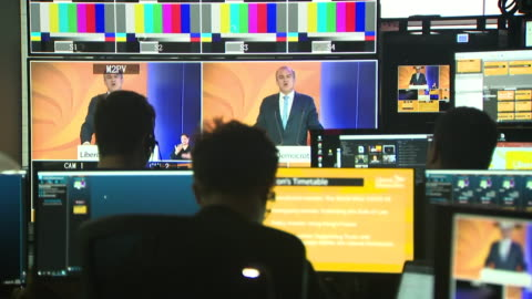 cutaways of ed davey giving his first speech as leader of the liberal democrats at the party's headquarters in london for the online liberal democrat... - cutaway video transition stock videos & royalty-free footage