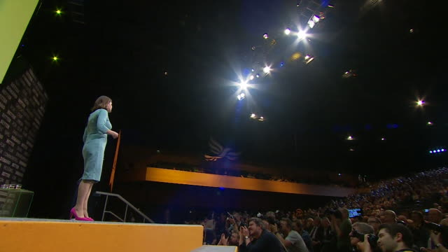 cutaways of jo swinson during her speech at her first party conference as liberal democrat leader bournemouth - bournemouth england stock videos & royalty-free footage