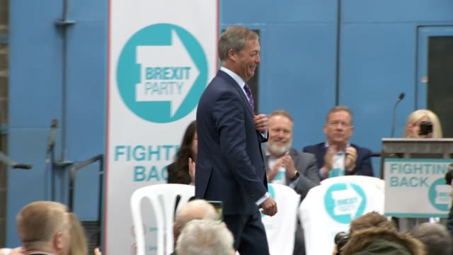 cutaways of nigel farage at launch event in coventry of his new party the brexit party - nigel farage stock videos & royalty-free footage