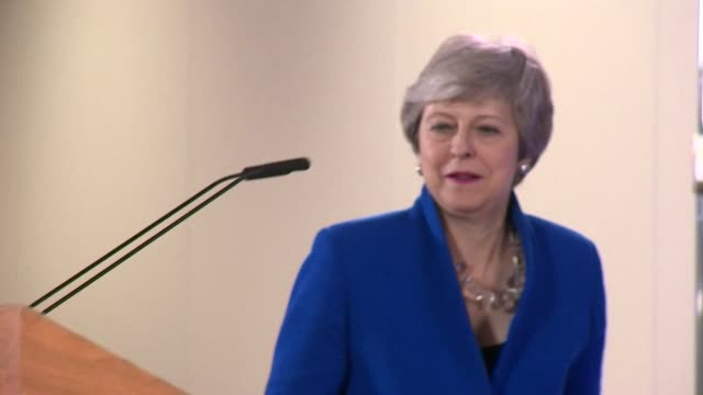 Cutaways Theresa May Prime Minister announcing Brexit extension to Article 50 in the early hours of the morning after talks with EU leaders in...