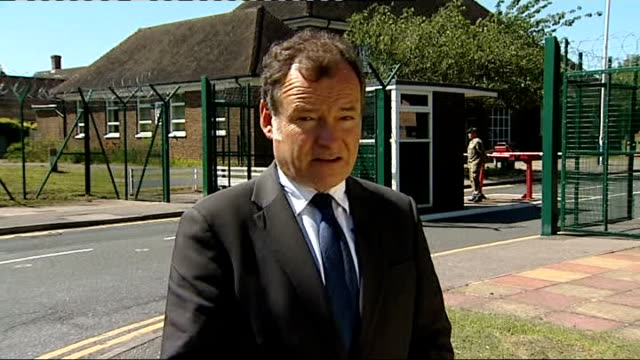 Cutbacks in army spending hits 17 army units ENGLAND Kent Canterbury Howe Barracks Reporter to camera Soldiers along at Howe barracks Soldiers at...