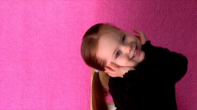 cute 2-year-old (hd,ntsc) - head in hands stock videos and b-roll footage