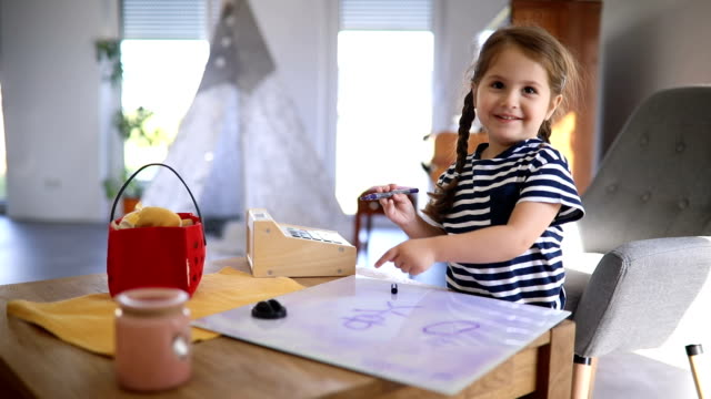 cute artistic child drawing on a plastic drawing board - inspiration board stock videos and b-roll footage