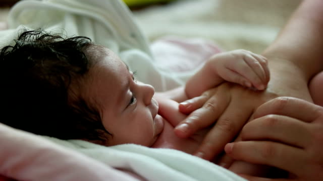 cute baby massage - massage stock videos & royalty-free footage
