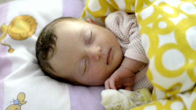 cute baby sleeping and dreaming - only baby girls stock videos & royalty-free footage