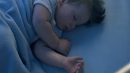 Cute Baby Sleeping at Night Time