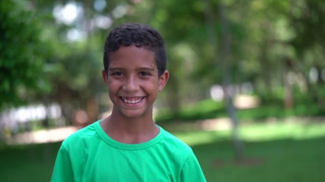 cute boy portrait - pardo brazilian stock videos & royalty-free footage