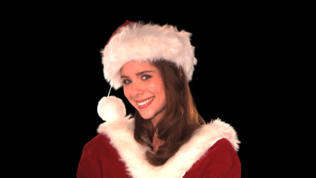 cute elf close-up - this clip has an embedded alpha-channel - pre matted stock-videos und b-roll-filmmaterial