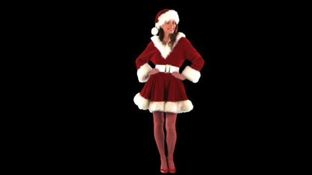 cute elf - this clip has an embedded alpha-channel - pre matted stock videos & royalty-free footage