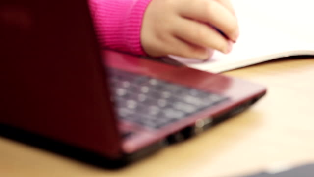 cute girl learning - netbook stock videos and b-roll footage