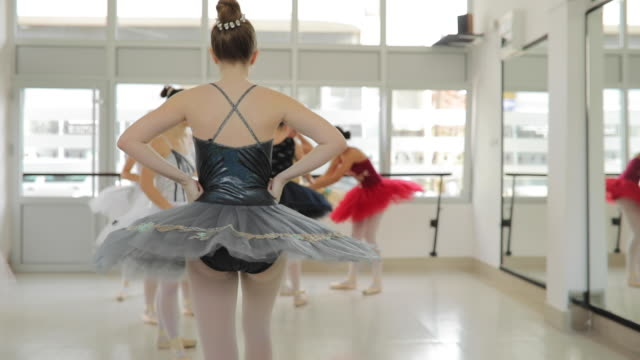 cute girls ballet dancers - ballet studio stock videos and b-roll footage