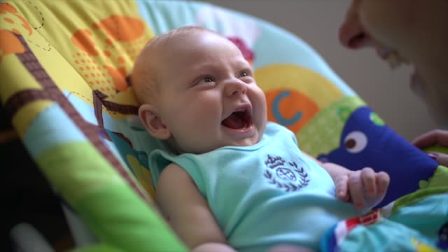 cute little baby laughing - child care stock videos & royalty-free footage