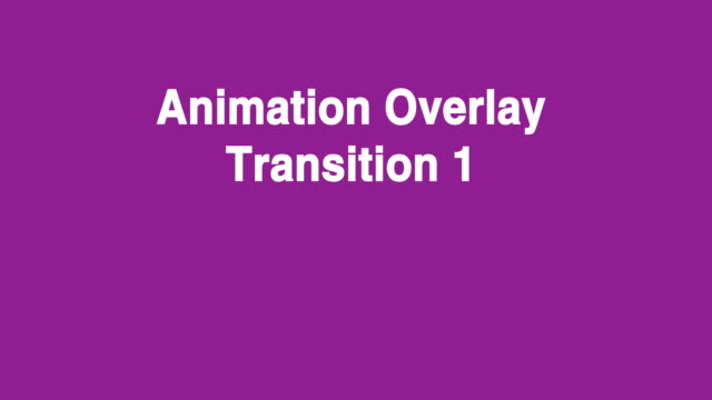 Cute little cartoon angel animating two full screen Transitions