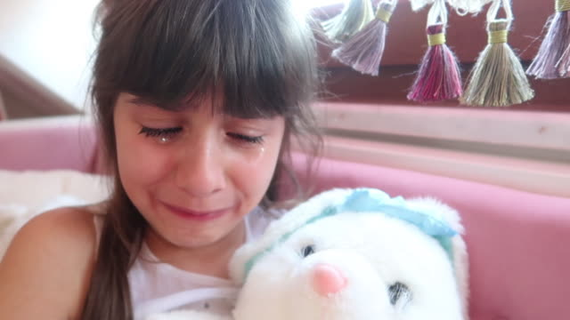cute little girl crying - hopelessness stock videos & royalty-free footage