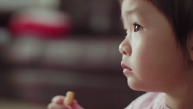 CU : Cute Little Girl Eating A Cookie