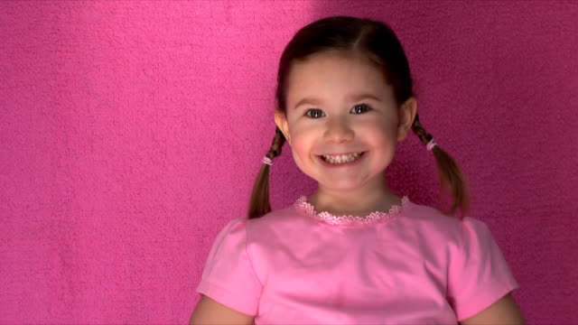 cute little girl (hd,ntsc) - embarrassment stock videos & royalty-free footage