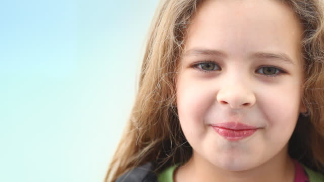 cute little girl,closeup indoors - nursery school child stock videos & royalty-free footage