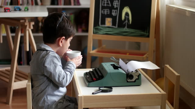 cute little writer - publication stock videos & royalty-free footage