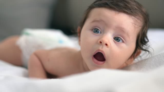cute newborn baby - nappy stock videos & royalty-free footage