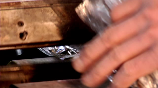 cutlery production and package - eating utensil stock videos and b-roll footage