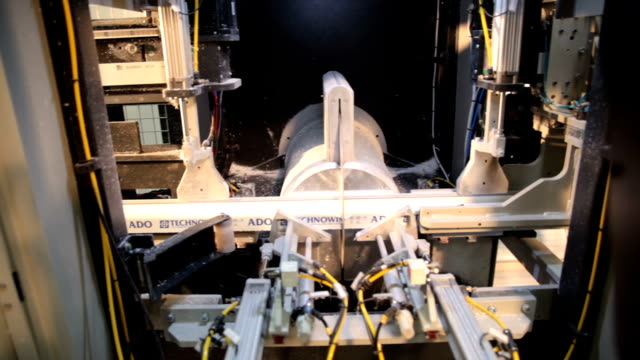 cutting aluminum profile with circular saw - pvc stock videos and b-roll footage