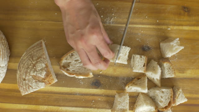 cutting bread - loaf stock videos & royalty-free footage
