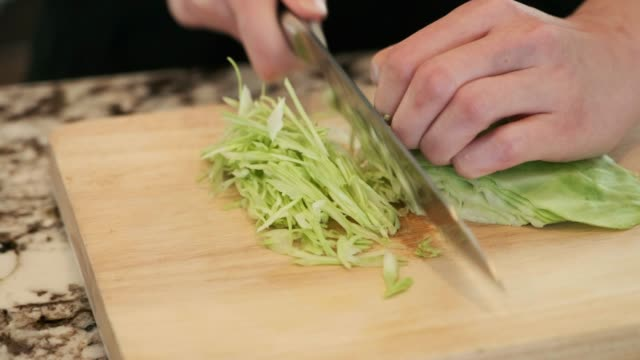 cutting cabbage - japanese food stock videos and b-roll footage