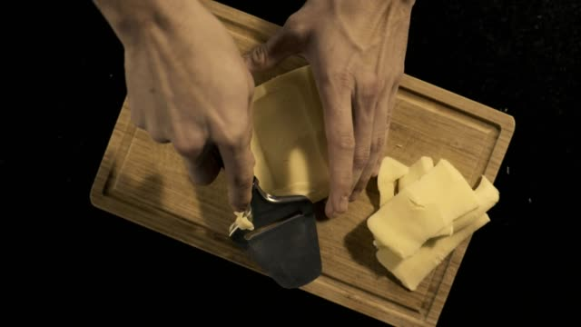 cutting cheese - extreme close up stock videos & royalty-free footage