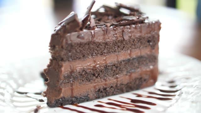 カットチョコレートケーキ, 4k - 連続するイメージ点の映像素材/bロール