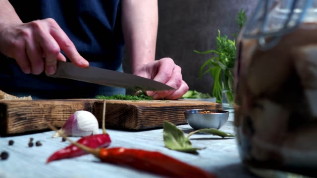 cutting dill - herb stock videos & royalty-free footage
