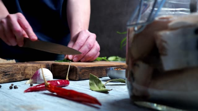 cutting dill - dill stock videos and b-roll footage