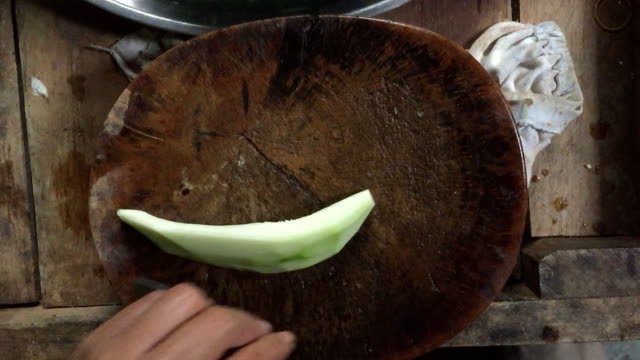 cutting green papaya fruit - papaya stock videos & royalty-free footage