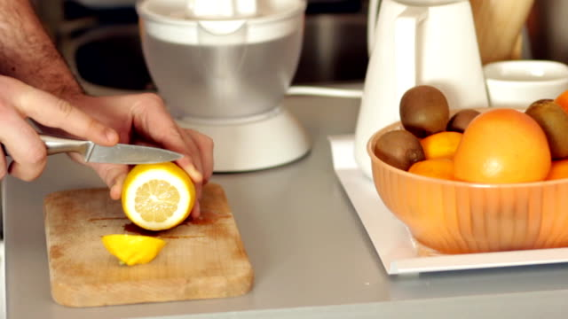 Cutting lemon