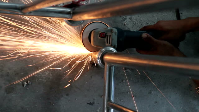cutting metal - metal industry stock videos and b-roll footage