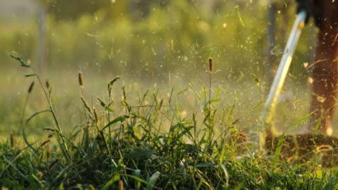 slo mo 切削草トリマー - grass点の映像素材/bロール