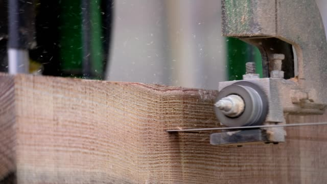 cutting the timber to spec in the factory - industrial equipment stock videos & royalty-free footage