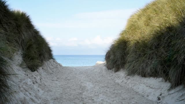 cutting through dunes-keremma. - sea channel stock videos and b-roll footage