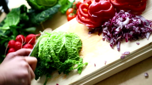 cutting vegetables. - antioxidant stock videos & royalty-free footage
