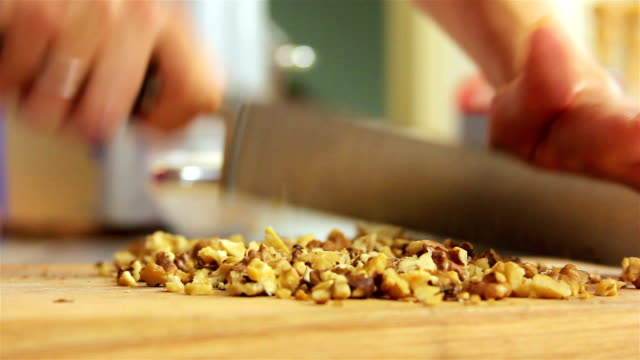 Cutting walnuts