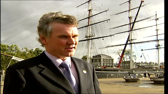 cutty sark restoration project underway joseph james interview sot describes corrosion of metalwork - metalwork stock videos & royalty-free footage
