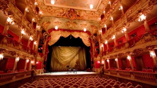 cuvilliéstheater | residenztheater münchen 4 - stage theater stock videos & royalty-free footage