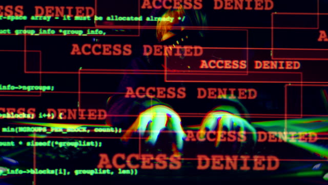 cyber attack. access denied. - hacker stock videos & royalty-free footage