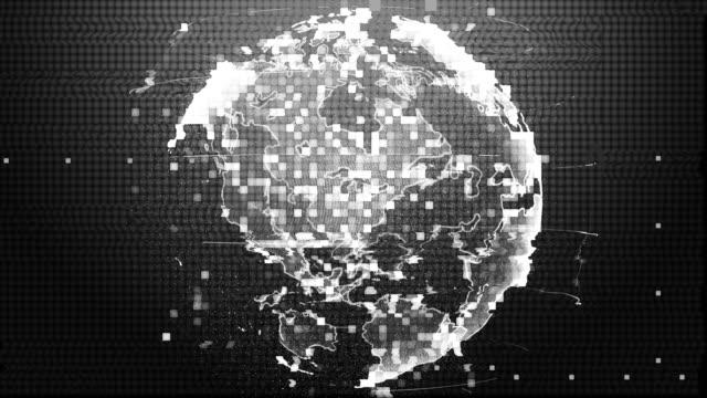 cyber attack hacking global world - cyborg video stock e b–roll