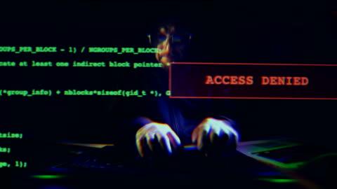 cyberangrepp - databrott bildbanksvideor och videomaterial från bakom kulisserna