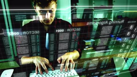 vídeos y material grabado en eventos de stock de cyber ataques - holograma