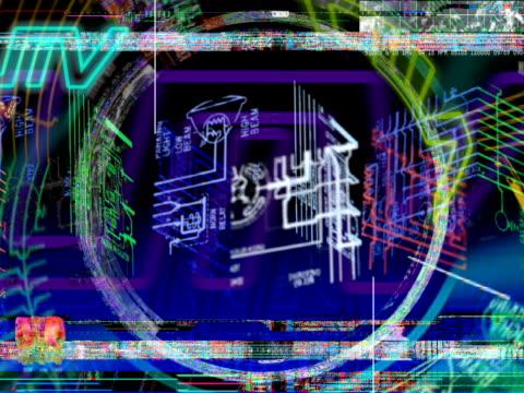 cyber stampa blu - cast video stock e b–roll