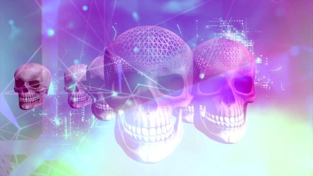 cyber crime concept - cyborg video stock e b–roll
