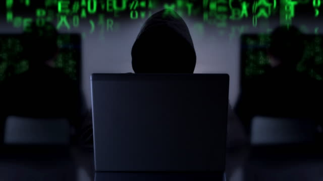 cyber crime hacker. code 2 - hooded top stock videos & royalty-free footage