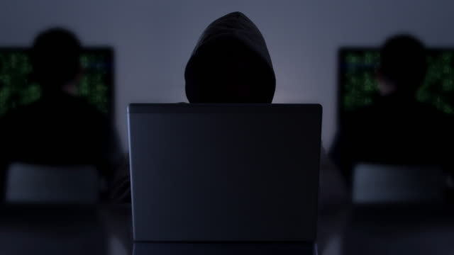 cyber crime hacker. - back lit computer stock videos & royalty-free footage