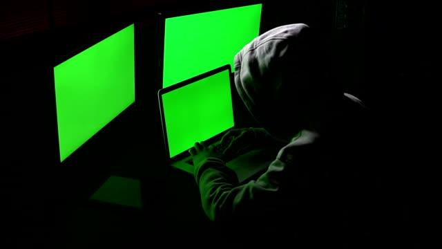 Cyber-Hacker arbeiten